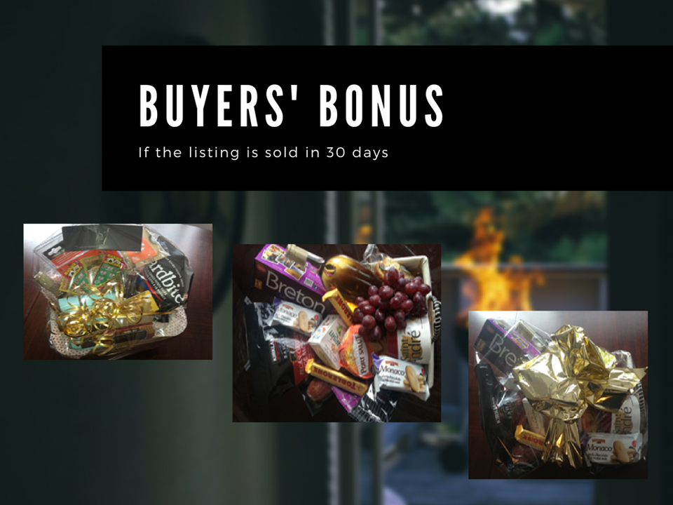 "We provide a ""buyer bonus"" gift for all listings sold within 3 days."