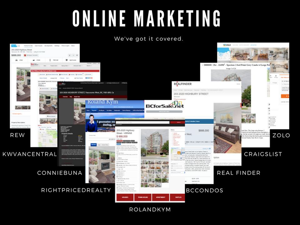 We've got online marketing covered through various websites, social media and newsletters.