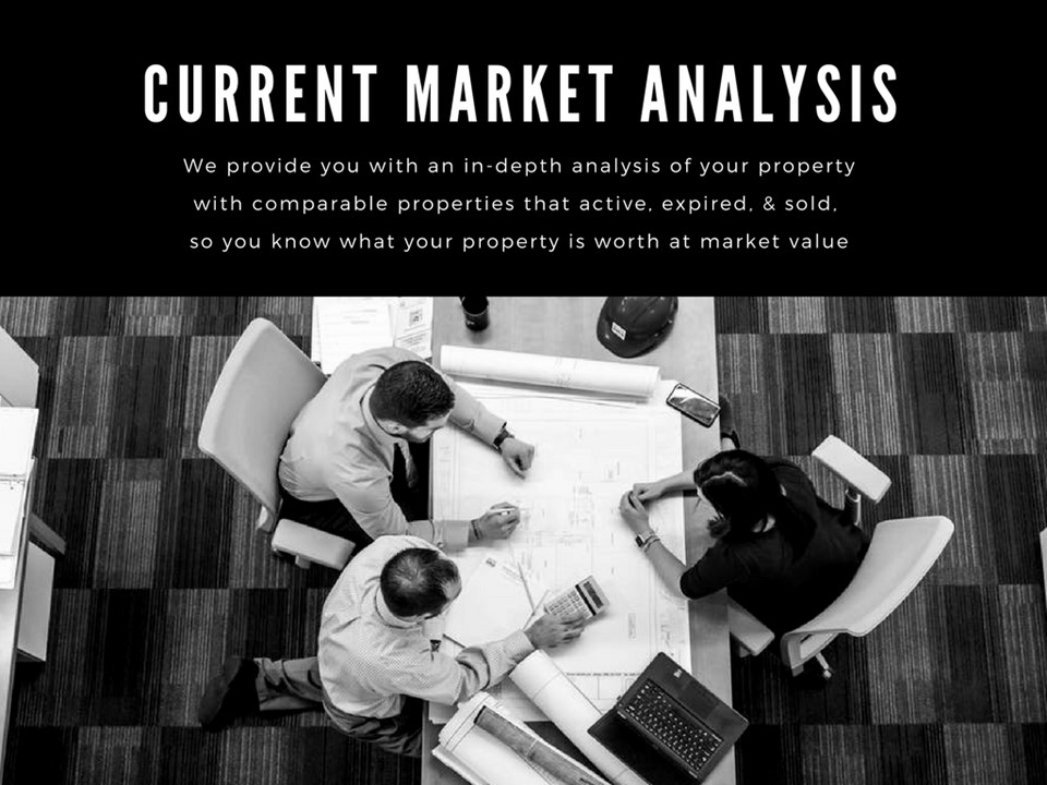 We provide you with an in-depth market analysis of your property with comparable properties that are active, expired and sold.